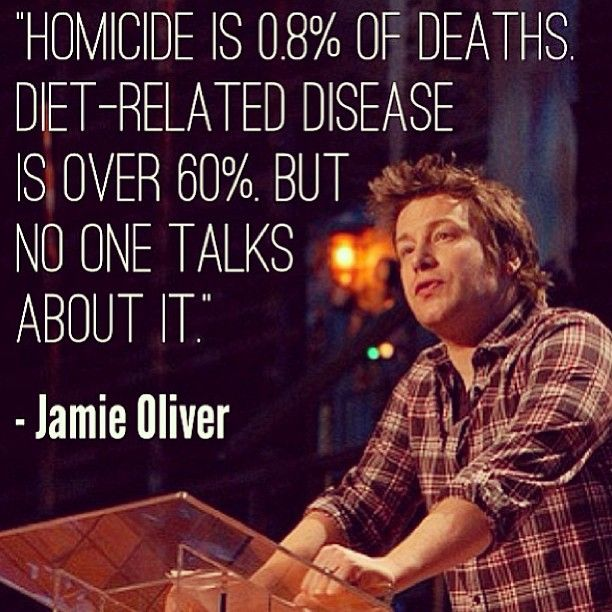 Food for thought. I love this guy and his quest to make people healthier.