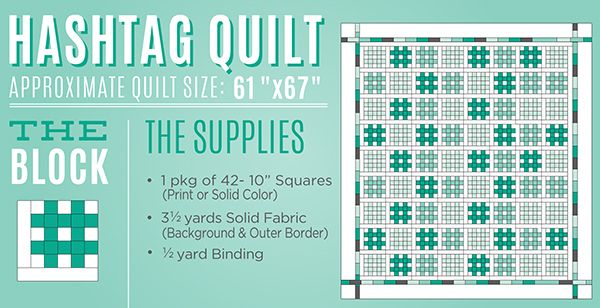 New Friday Tutorial: The Hashtag Quilt