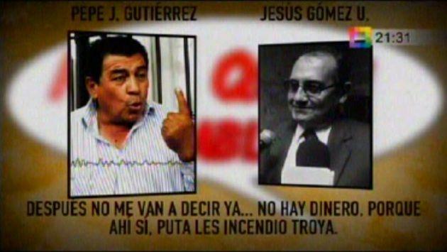"""Pepe Julio Gutiérrez: """"No me digan que no hay dinero, ahí sí les incendio Troya"""" #Peru21"""