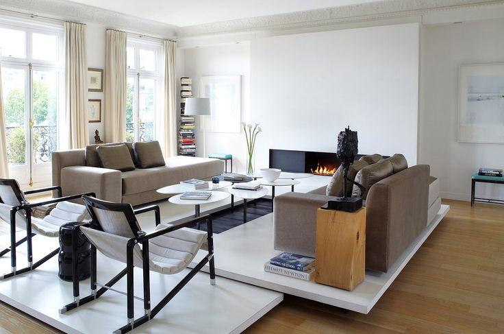 Contemporary Living Room in Paris, FR by Bismut & Bismut