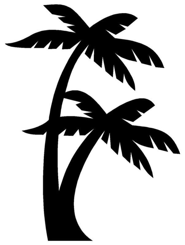 Palm Tree Car Decal Ebay Palm Tree Silhouette Tree