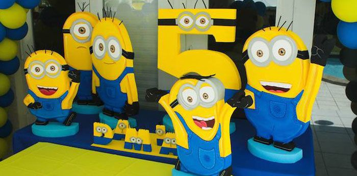 Despicable Me Minion Themed Birthday Party {Cake, Decor, Ideas, Games} karaspartyideas.com