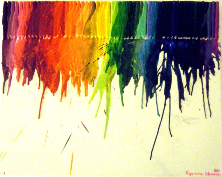 Wow! Melted Crayon painting!  Be creative!