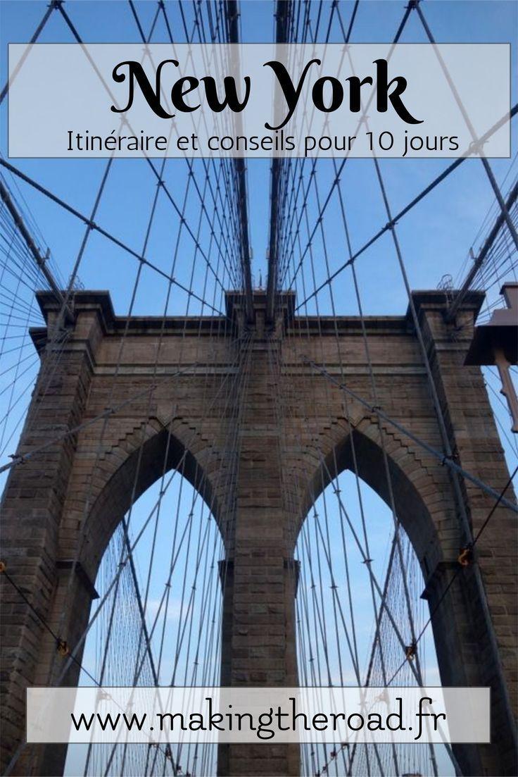Le pont de Brooklyn - Voyage de 10 jours à New York conseils idées photos de visite pour des vacances en avril au printemps.