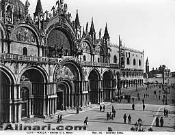 Detail of a doorway of St. Mark's Basilica, Venice    Alinari, Fratelli * 1915-1920 ca.  Alinari Archives-Anderson Archive, Florence $42