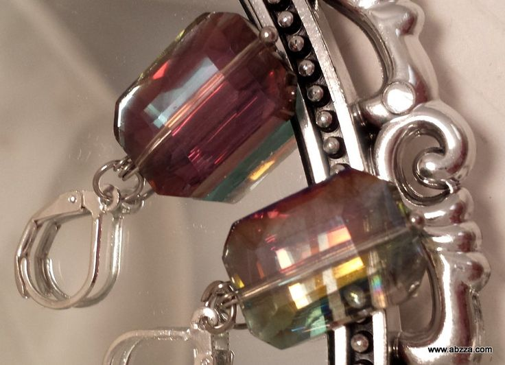 Magnificent Ever Changing Colors Crystal Dangle Earrings by abzzadesigns on Etsy