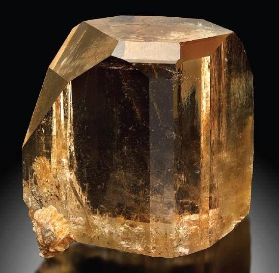 Golden Topaz crystal from Sakangyi, Myanmar