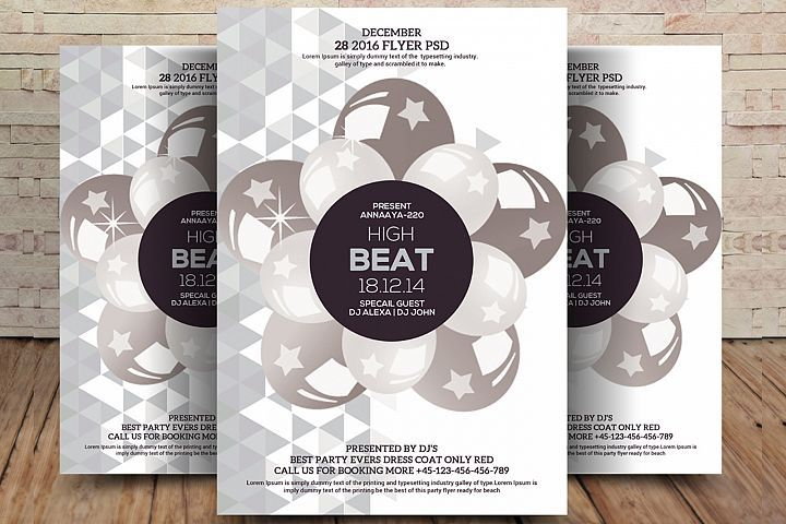 Download High Beat Flyer 510436 Flyers Design Bundles In 2020 Party Flyer Flyer Music Flyer