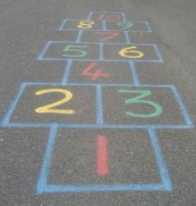 As a Catholic school girl recess did not allot for much running around hence we played countless games of hopscotch