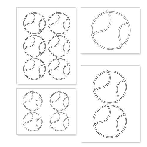 Printable Tennis Balls from PrintableTreats.com