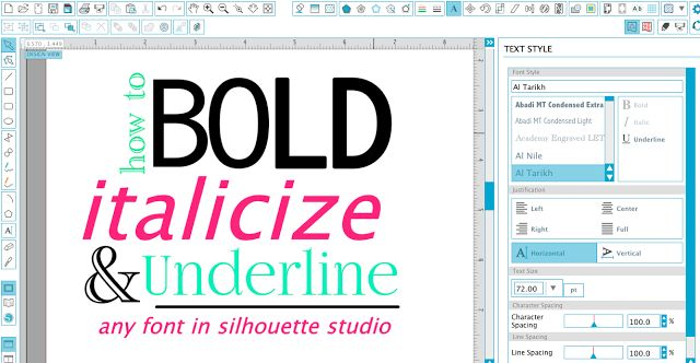 Silhouette Studio Hack: How to Make Text Bold, Italicized and Underlined | Silhouette School | Bloglovin'