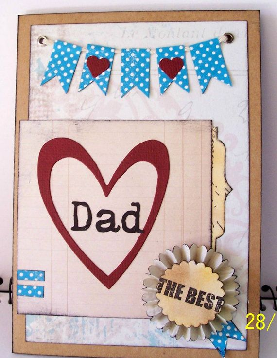 The Best Dad Card. Original handmade card for Dad's by KayaDoll