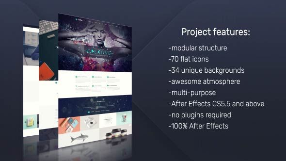 Best PROMOTION GRAPHICS IDEAS Images On Pinterest Graphics - Awesome after effects website template design