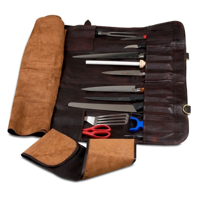 Boldric Brown Leather Knife Bag 18 Pockets Kitchen Utensiles Pinterest Bags And
