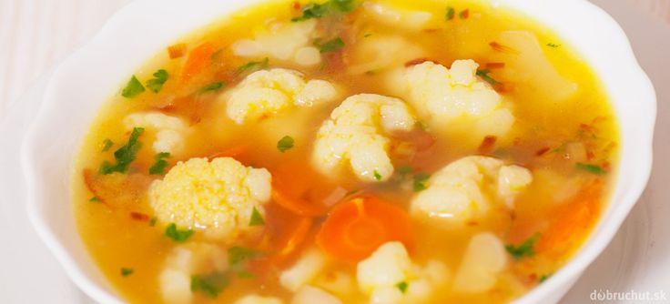 Karfiolová polievka s mrkvou