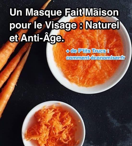 un masque naturel à la carotte contre les rides