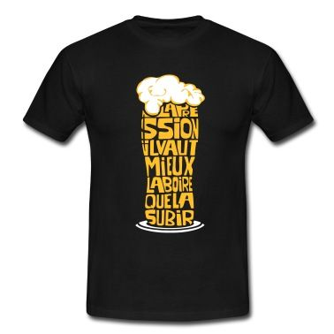 Tee shirt Alcool - Pinte de bière pression - Tee shirt, une création Klerdesign. Nombreuses tailles en stock. A commander maintenant chez Spreadshirt !