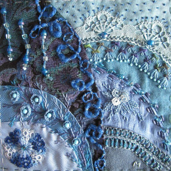 Crazy Quilt Embroidery Stitches                                                                                                                                                     Más