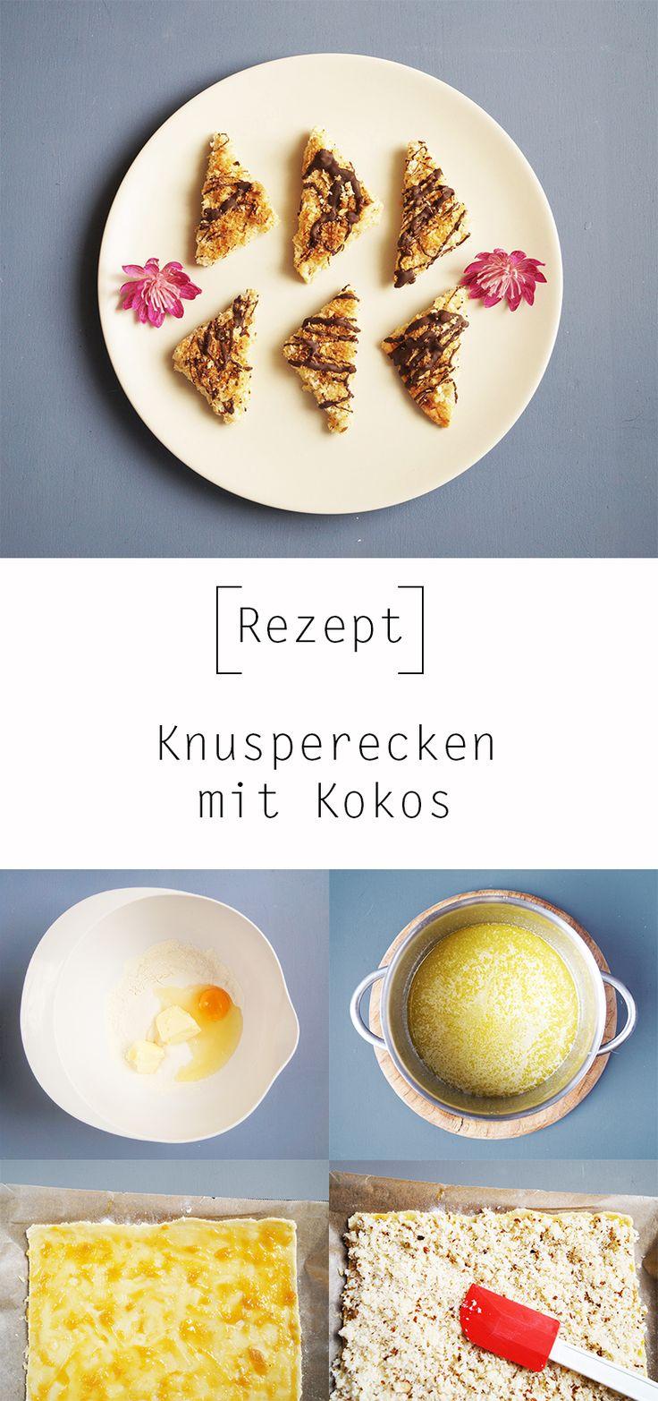 Rezept - Knusperecken mit Kokos by Nur noch