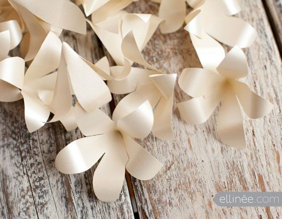 DIY paper flowers for a garland or wall hanging