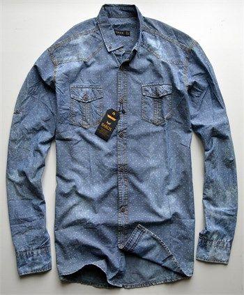 Erkek açık mavi kot gömlek modellerini en ucuz fiyatlarıyla kapıda ödeme ve taksit ile Outlet Çarşım'dan satın al.