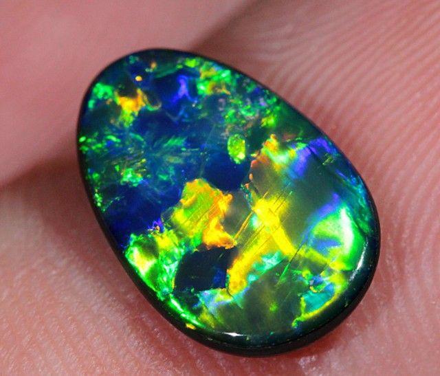 1.6ct Stunning Gem Lightning Ridge Opal Doublet opal doublet , australian doublet opal, opal