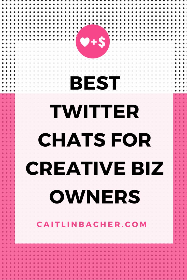 Best Twitter Chats For Creative Biz Owners  Caitlin Bacher
