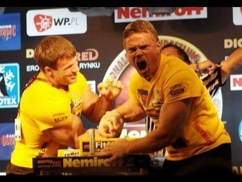 John Brzenk Vs Devon Larratt Heavy weight Arm Wrestling 2015 - YouTube