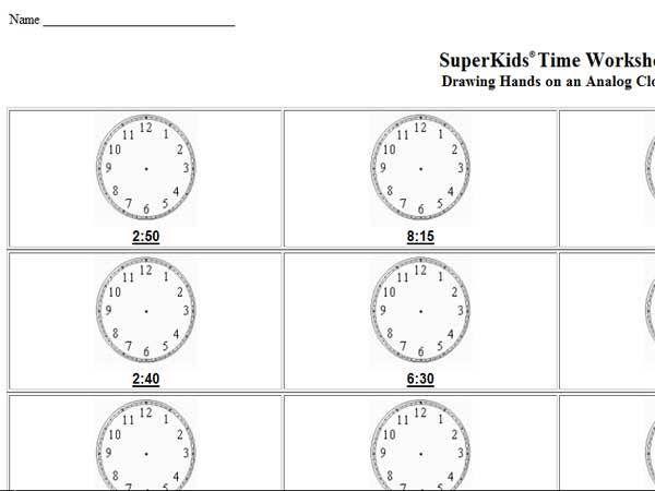 42 Reading Clock Worksheets Clock Worksheets Worksheets For Kids Worksheets