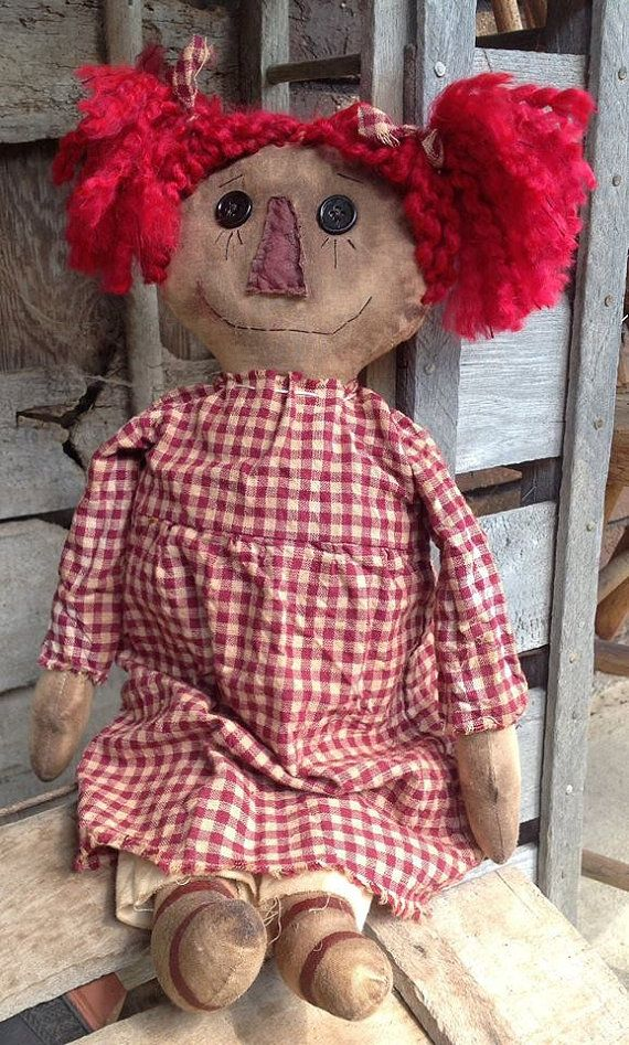Annabel Primitive Rag Doll by BeaverBoutiquePrim on Etsy: