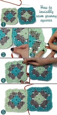 How to invisibly seam granny squares #crochet #crochetgeekery