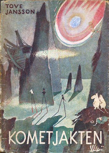 1946 Den andra boken Kometjakten / Mumintrollet på kometjakt / Kometen kommer publiceras. Kometjakten ses av många som den första boken i serien eftersom den introducerar många av huvudkaraktärerna såsom Snusmumriken och Snorkfröken, och utspelar sig i Mumindalen.
