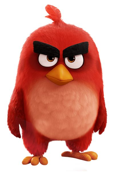 Red Bird The Angry Birds Movie PNG Transparent Image