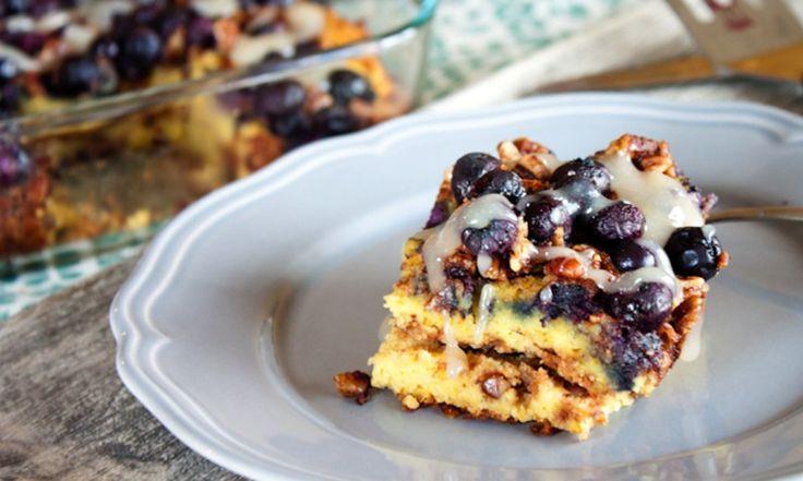 Grain-Free Blueberry Coffee Cake Recipe // spryliving.com