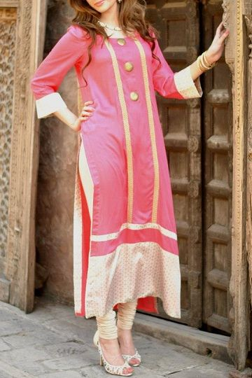 Pink Pakistani Clothes for 2013 by Andaaz Pret a Porter