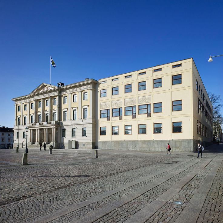 Law Courts Annex, Goteborg, Sweden, Erik Gunner Asplund, architect