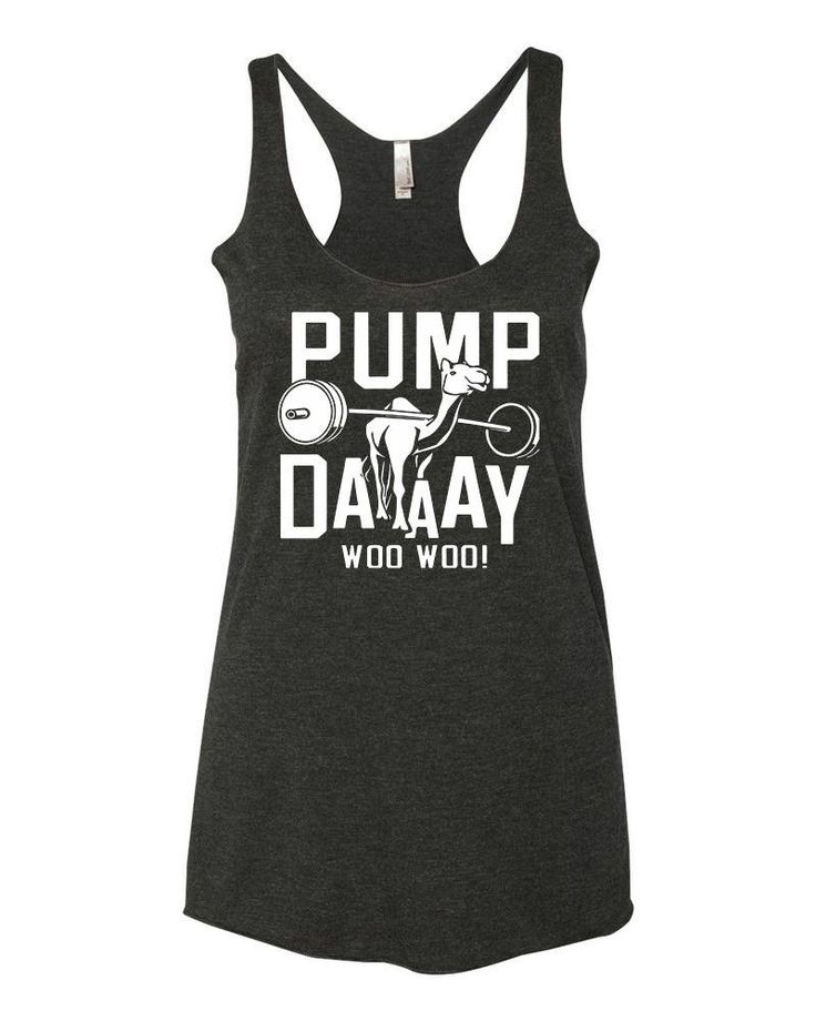 Pump Day Camel Lifting Tri-Blend Racerback Tank Top - yoga top, racerback tank, funny workout tank, gym tank, fitness tank, boho clothing