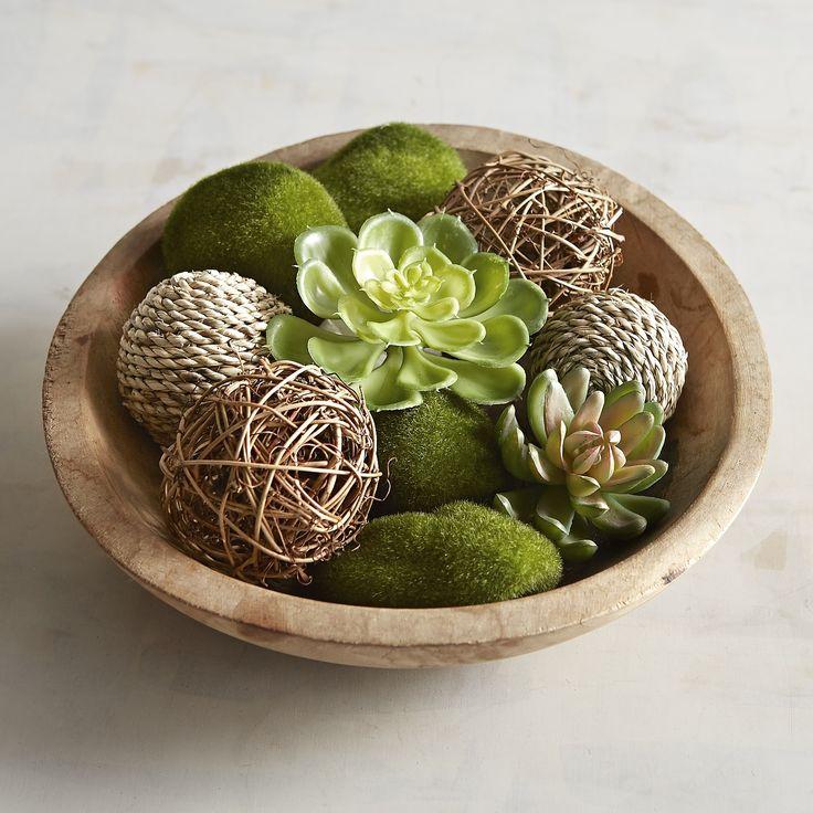 Faux Moss & Succulent Vase Filler