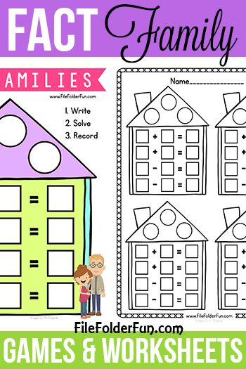 Free Fact Family Games And Worksheet For Children