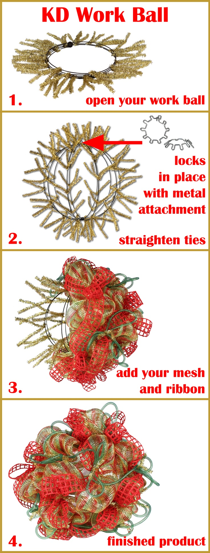 How-To on our KD Work Ball @Megan Ward Maxwell Taylor Tree  Work Ball will be available in 11 Colors! http://www.trendytree.com/wreath-making-supplies-work-wreaths-garlands-accessories/12-work-creations-ball-assorted-colors.html
