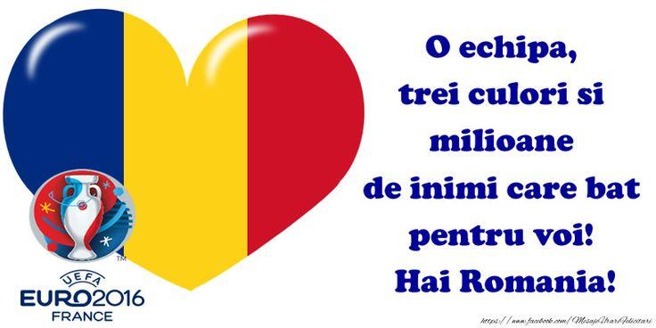 O echipa, trei culori si milioane de inimi care bat pentru voi!  Hai Romania!