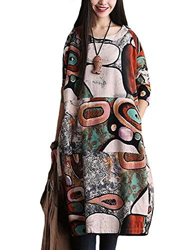 Minibee Women's Round Neck Chic Print Dress with Pockets Green Minibee http://www.amazon.com/dp/B014OW3PJ2/ref=cm_sw_r_pi_dp_C994vb1P0EEVT