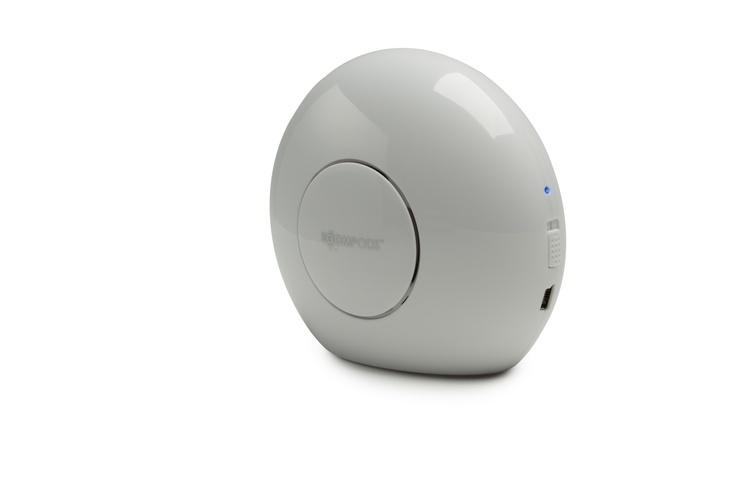 Doubleblaster-white-shinny-Bluetooth Speaker