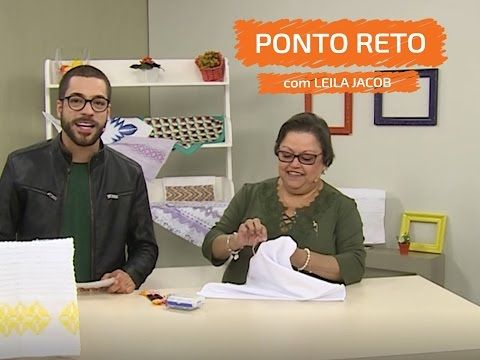 Pano de Copa com Ponto Reto - Leila Jacob  | Vitrine do Artesanato na TV - YouTube
