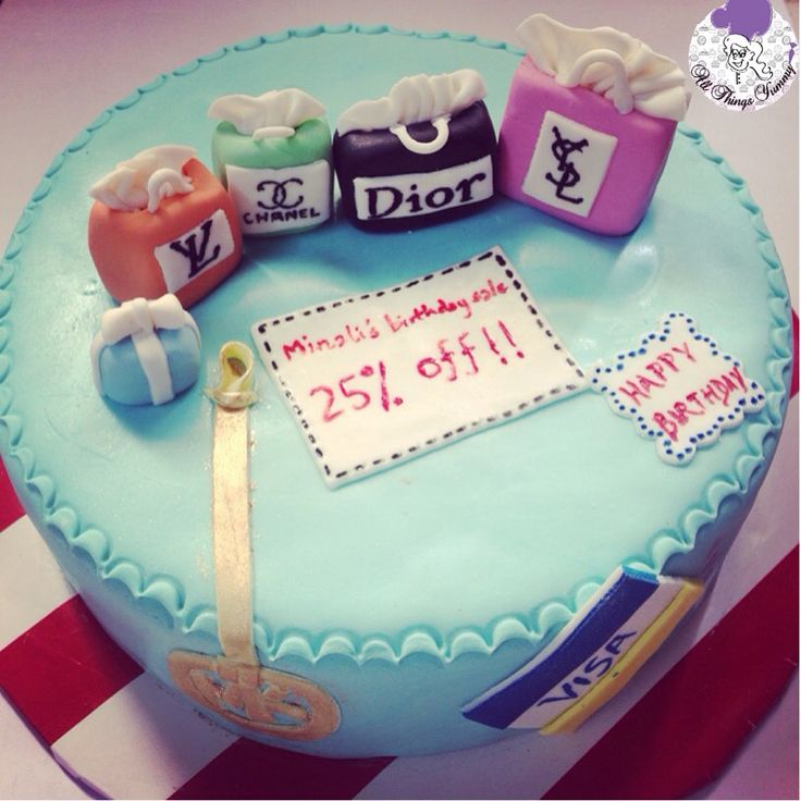 Born to shop! #shoppingbags #shop #shopping #ysl #dior #chanel #tiffany #lv #louisvuitton #visa #mk #michaelkors #atyummy #sale #shopaholic #cake #customisedcake #creditcard #birthdaycake #themecake