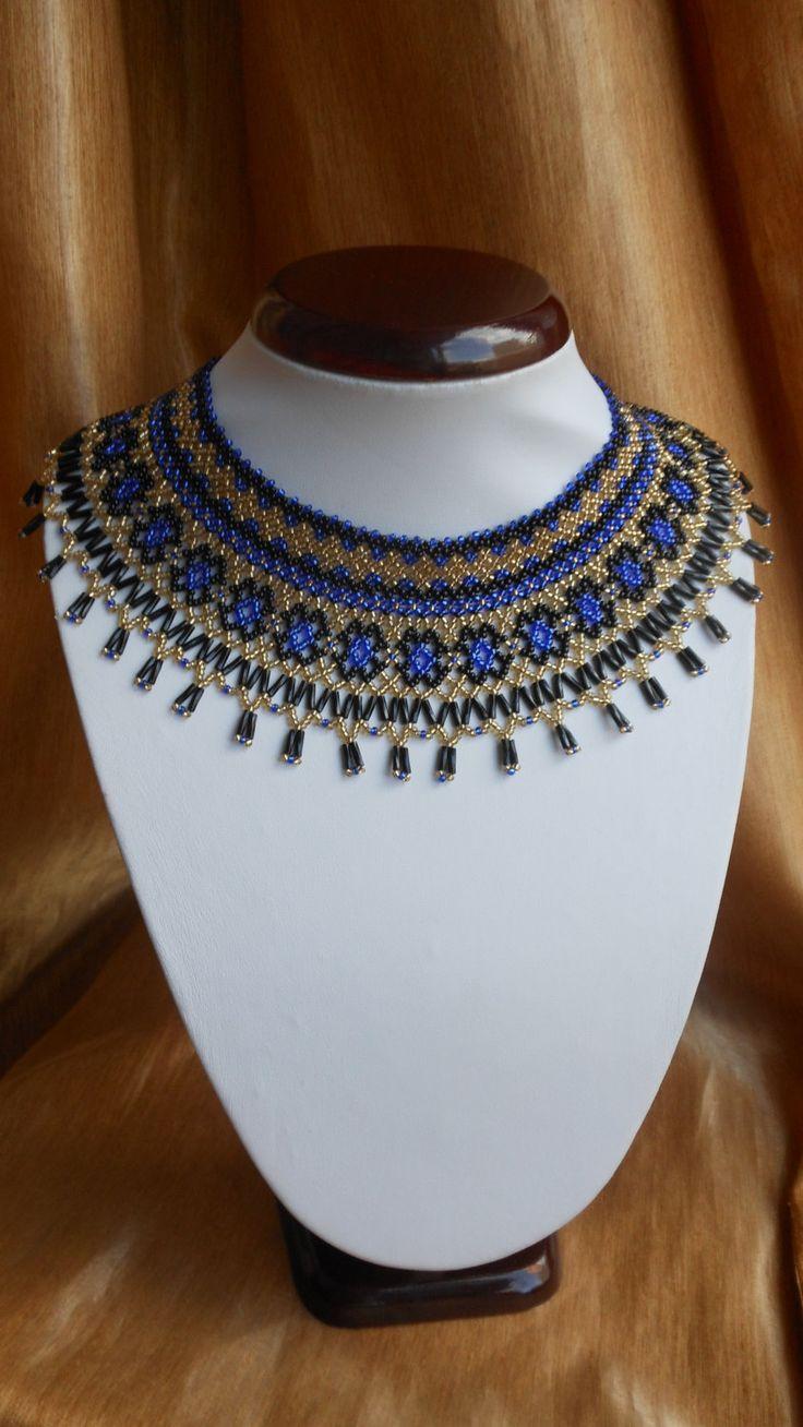 Czech beads necklace Ukrainian necklace by BeadedJewelryVirunia