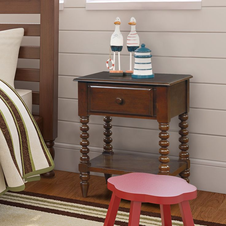 Furniture of America Alma Transitional Style 1-drawer Youth Nightstand   Overstock.com Shopping - The Best Deals on Kids' Nightstands
