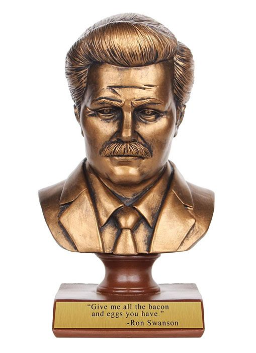 """""""Give me all the bacon and eggs you have."""" - Ron Swanson Bust"""