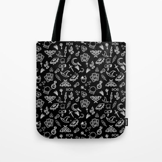 Modern Witch - Black Tote Bag