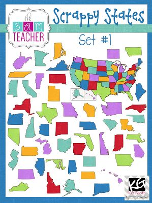 NEW US States Clipart, a Discount Code, & a FREEBIE!!